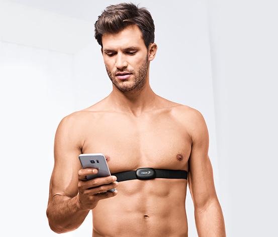 Hrudní pás na měření tepové frekvence s Bluetooth®