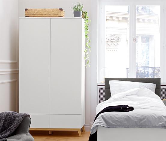 Dvoudveřová šatní skříň – 100 cm