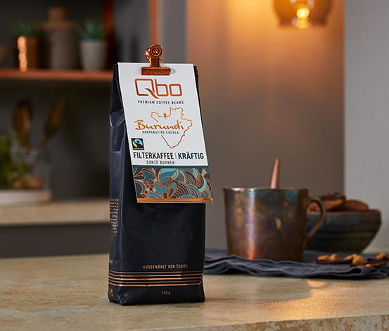 Qbo Premium Coffee Beans »Kooperative Cococa« Filterkaffee Kräftig – 250g Ganze Bohne