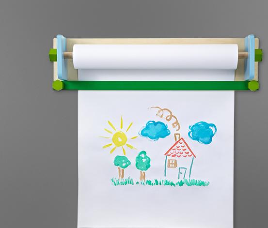 Nástěnný držák na role kreslicího papíru