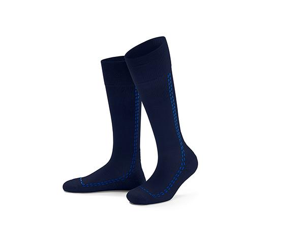 Mavi Spor Kompresyon Çorabı