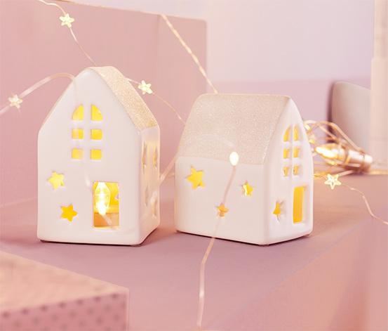 2 maisons en céramique à LED