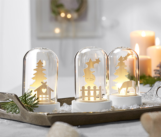 3 cloches décoratives à LED