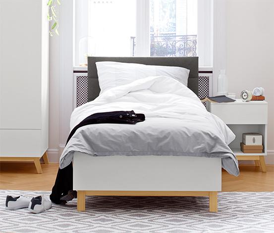 Beyaz Kapitone Başlıklı Yatak, Yaklaşık 90X200 Cm