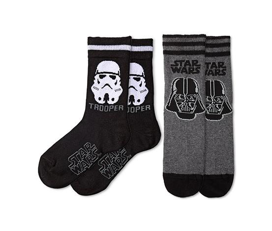 Çorap, Star Wars™, Siyah-Beyaz ve Koyu gri-Siyah, 2 Çift