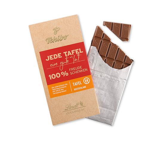 """Vollmilch Schokolade – """"Jede Tafel eine gute Tat"""""""