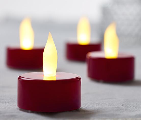 4 LED-es teamécses szettben, piros