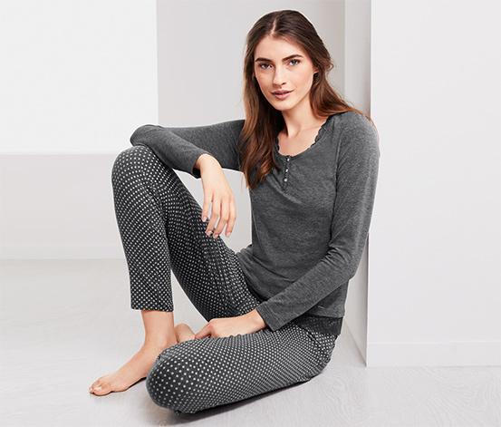 Női pizsama, szürke