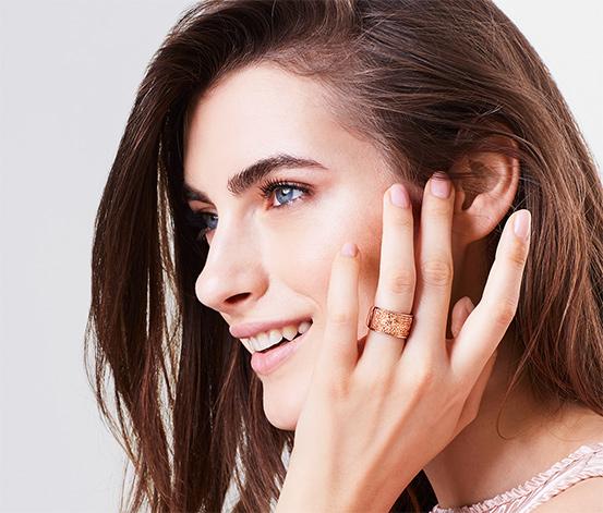 Női gyűrű, Swarovski, aranyozott