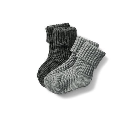 Organik Pamuklu Çorap, Kırçıllı Gri, 2 Çift