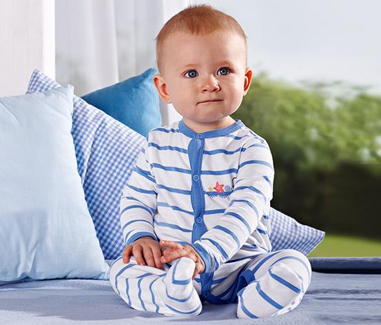 Tulum Pijama, Mavi-beyaz çizgili