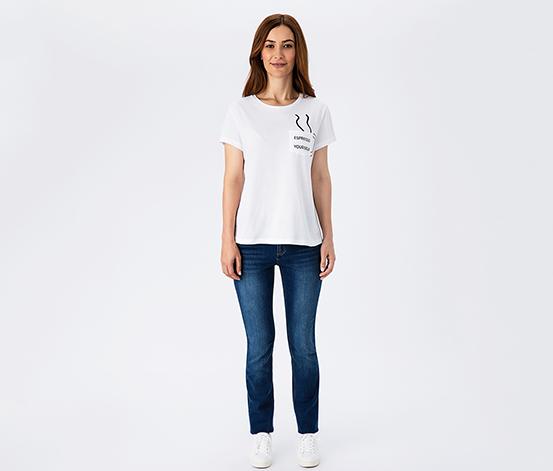 Beyaz Espresso Yourself Kadın Tişört