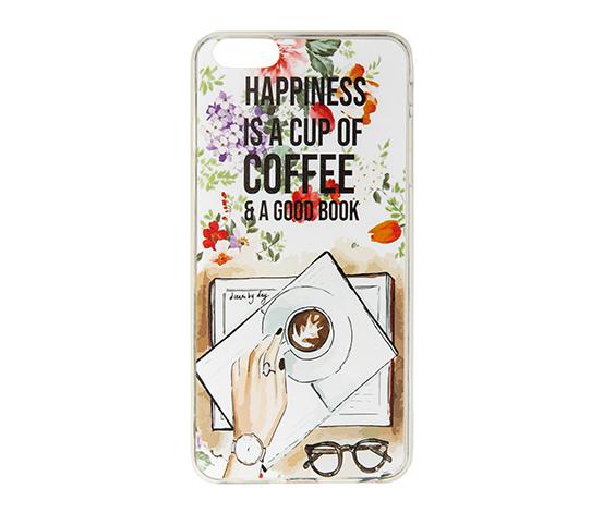 Coffee Temalı IPhone 6 Plus-6s Plus Silikon Telefon Kılıfı