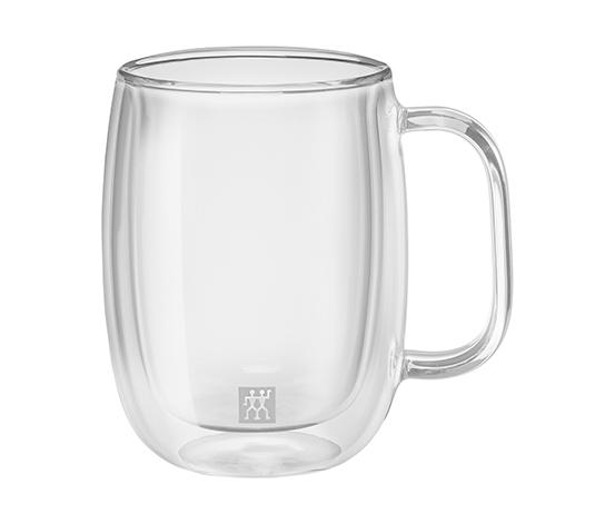 Zwilling Çift Camlı Kulplu 2'li Kahve Bardağı Seti, 355 ml