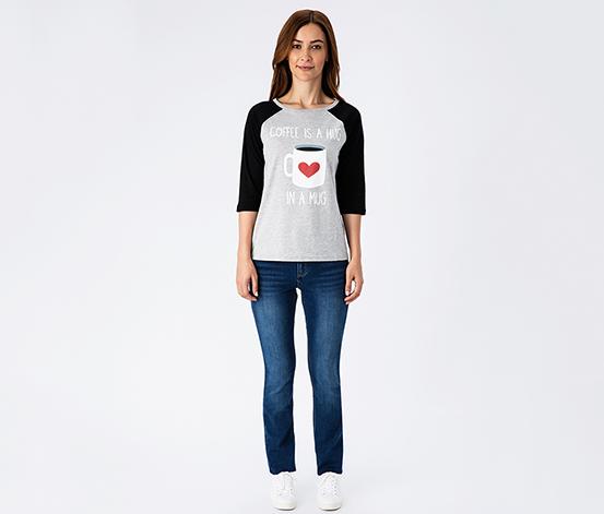 Gri A Hug in A Mug Kadın Tişört