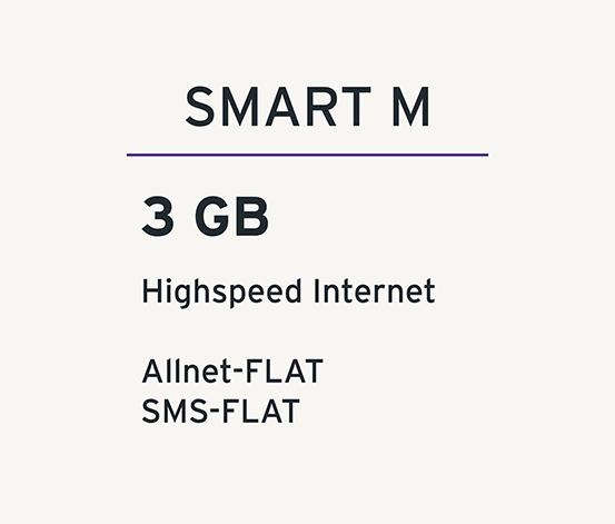 Smart M mit 3 GB für 9,99€ pro 4 Wochen