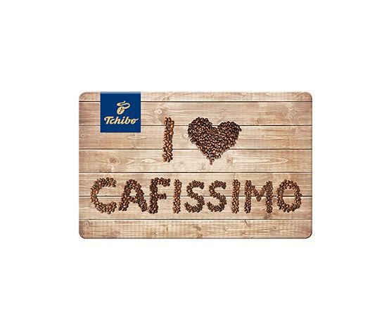 Carte cadeau Tchibo I love Cafissimo