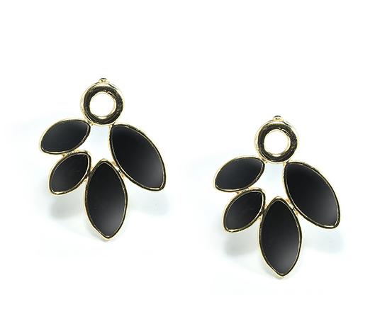 Yaprak Küpe Siyah