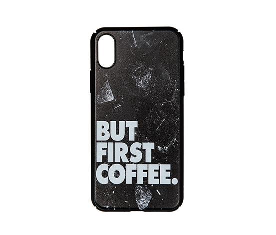 But First Coffee IPhone X Rubber Telefon Kılıfı