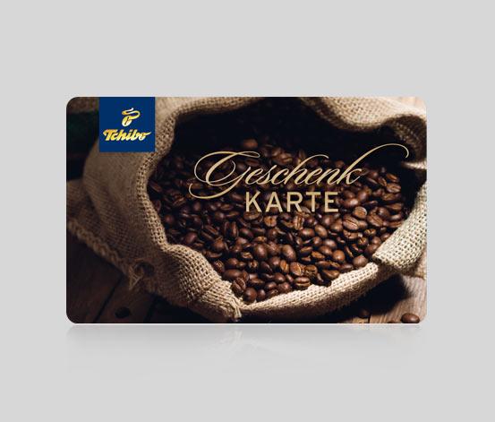 Geschenkkarte Kaffeesack