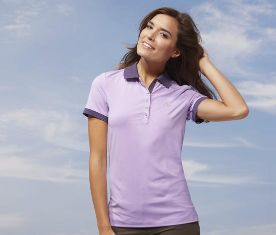 Damen-Funktions-Poloshirt, Flieder