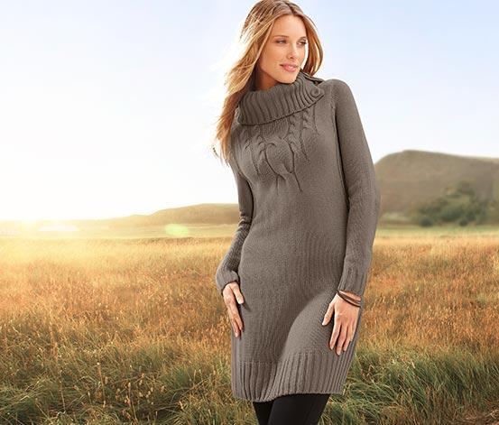 Dlouhý pulovr, hnědý
