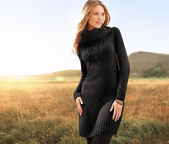 Dlouhý pulovr, černý