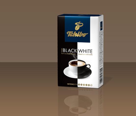 TCHIBO FOR BLACK ´N WHITE, 500 g, kawa palona mielona