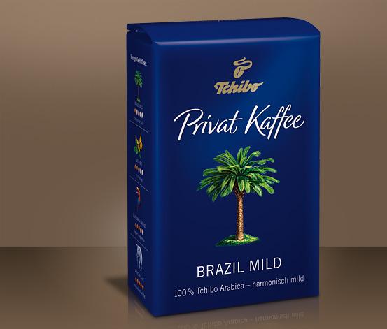 Privat Kaffee, Brazil Mild, 500 g, kawa w ziarnach
