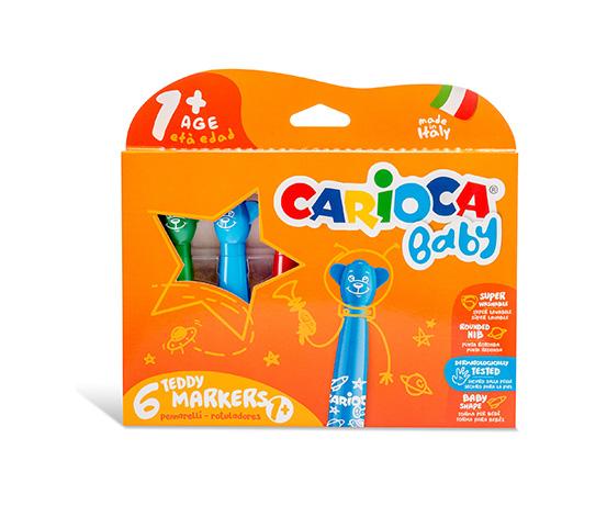 Carioca Teddy Jumbo Bebek Süper Yıkanabilir Keçeli Kalem 6'lı