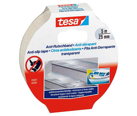 tesa® Kaydırmaz Bant Zemin Güvenliği için, 5m:25mm, Şeffaf