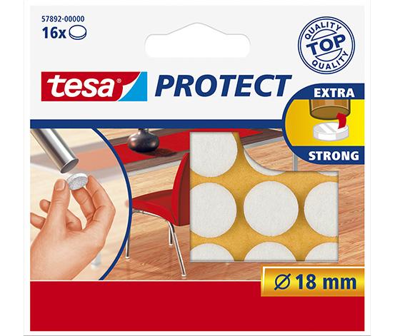 tesa® Protect Çizilmeye Karşı Koruma Sağlayan Keçe, Yuvarlak, 18mm, 16 adet,