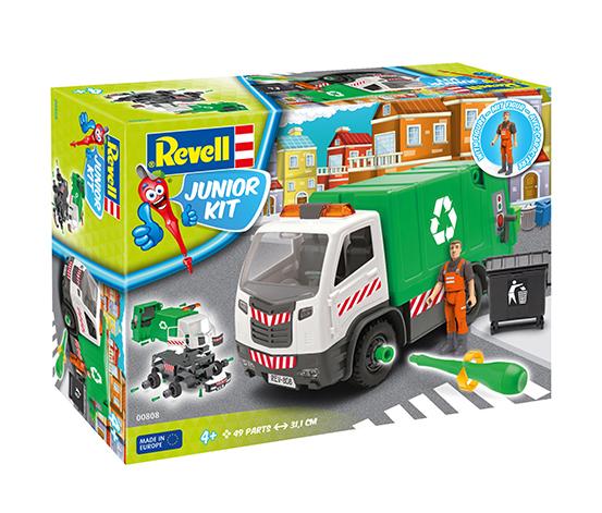 Revell Junior Kit Figürlü Çöp Kamyonu