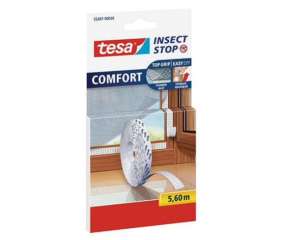tesa® Sineklik COMFORT Çırt Bantlı Yedek Rulo, 5.60m, Beyaz
