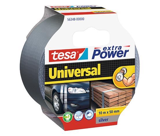 tesa® Extra Power Universal Duct Bant, 10m:50mm, Gri
