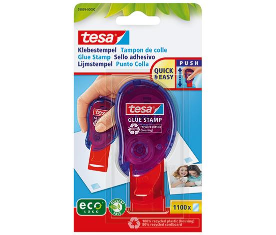tesa Glue Stamp Pratik Yapıştırıcı, ecoLogo® , 8.4 mm: 8.4 mm Çift Taraflı pedler , 1100 Baskı
