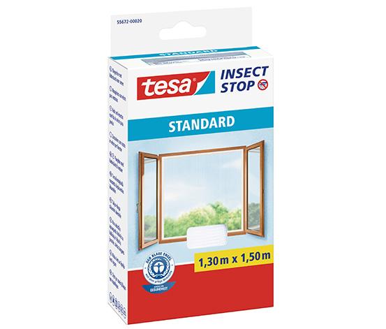 tesa® Sineklik Standart Çırt Bantlı, Cam için,1.30m:1.50m, Beyaz