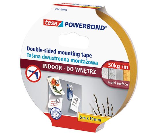 tesa® Powerbond® İç Mekan Çift Taraflı Montaj Bandı, 5m:19mm