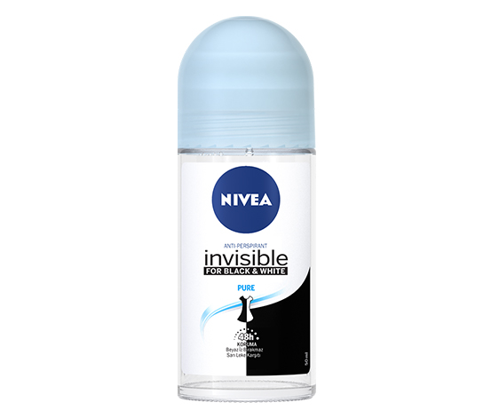 NIVEA INVISIBLE BLACK&WHITE PURE ROLL-ON 50ML KADIN