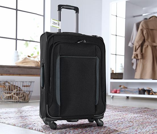 Textilní kufr se čtyřmi kolečky, malý