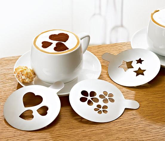 Cappuccino díszítő sablon szett