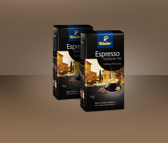 2 kg Espresso Sizilianer Art - Ganze Bohne