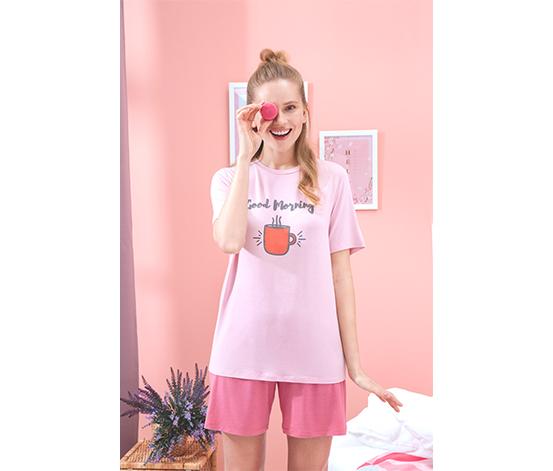 Sloganlı Pijama Takımı