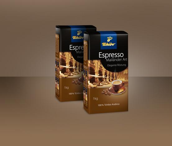 2 kg Espresso Mailänder Art - Ganze Bohne