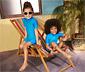 Gyerek kezeslábas UV-szűrővel