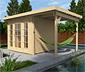 WEKA-Gartenhaus mit Flachdach und Panorama-Tür