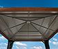 Sojag-Premium-Pavillon, Aluminium in Holzoptik, ca. 363 x 363 cm