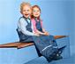 Dziecięce spodnie przeciwdeszczowe w paski