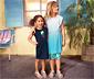 Lányka jerseyruha, világoskék