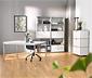 Schreibtisch mit Chromgestell, ca. 140 x 80 cm